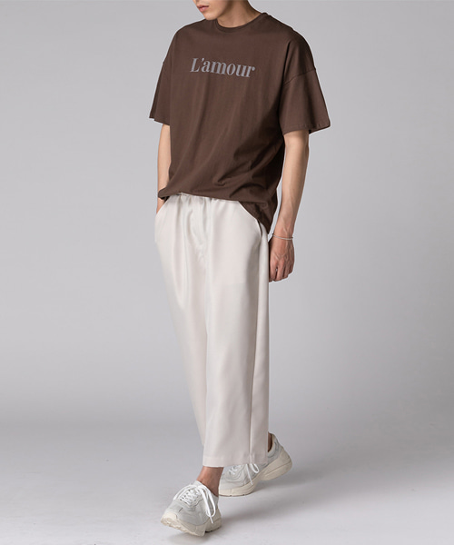 L'amour Letter T-shirts(3col) 라무어 레터 티셔츠
